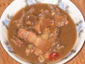 Mắm kho thịt ba rọi –  ấm áp cho ngày mưa