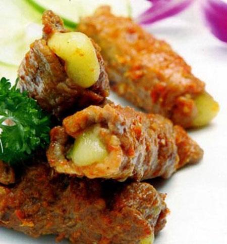 Bò cuộn phô mai  - món ngon cho ngày cuối tuần