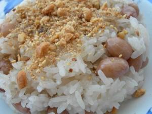 Cách nấu xôi đậu phộng bằng nồi cơm điện